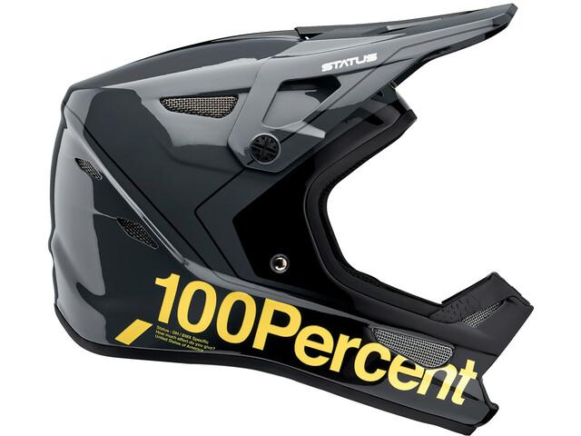 100% Status DH/BMX Casque, gris/jaune